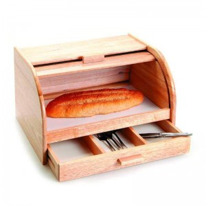 Wooden Bread Bin With Drawer