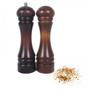 Rubber Wood Salt Shaker And Pepper Mill