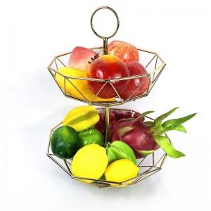 Decorative Geometric Metal Fruit Bowl