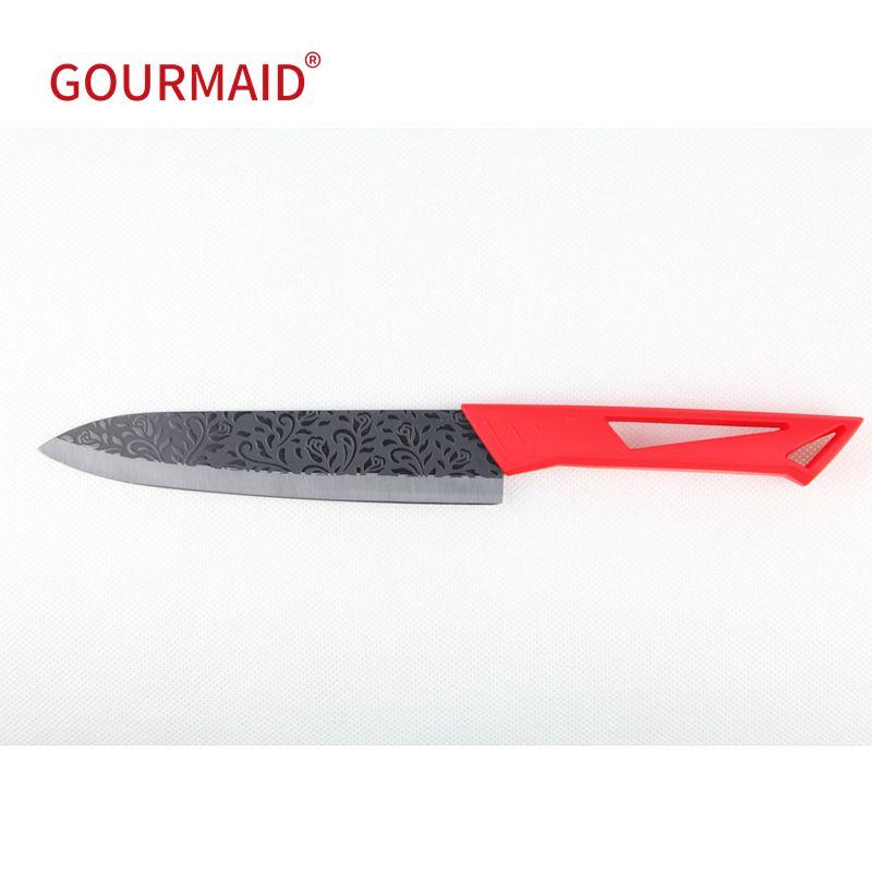 6 Inch Rose Pattern Black Ceramic Knife
