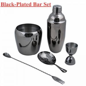 Gunmetal Plated Bartender Kit Cocktail Shaker Set