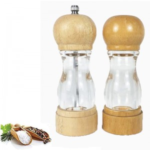 Acrylic And Wood Pepper Mills