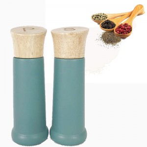 Colored Rubber Wood Pepper Mill
