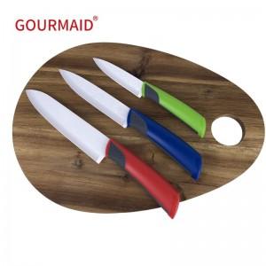 3PCS Kitchen White Ceramic Knife Set