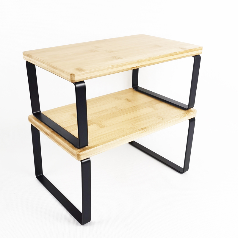 Stackable Bamboo Storage Shelf Featured Image