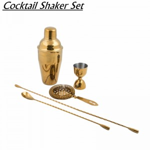 Cocktail Gold Shaker BAR Set Drink Mixer