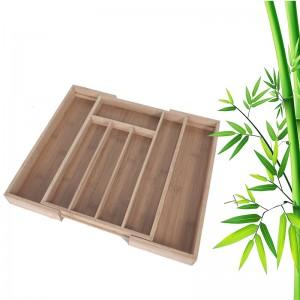 Extendable Bamboo Utensil Tray
