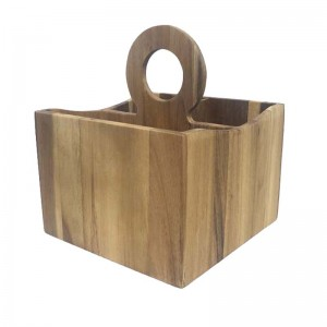 Acacia Wood Cutlery Holder