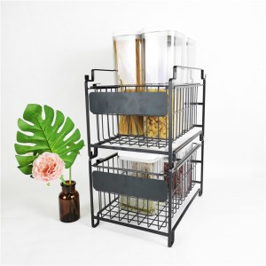 2020 Good Quality White Steel Dish Drying Drainer - Stackable Pull Out Basket – Light Houseware