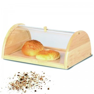 Acrylic And Wood Bread Bin