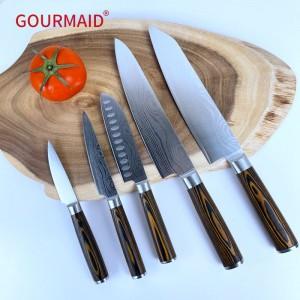 Damascus Stainless Steel Set 5 Knife