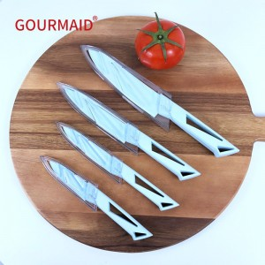 Blue Blade Ceramic Knife 4PCS Set With Cover