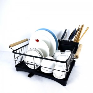 Dish Drainer With Bamboo Handle