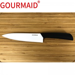 white ceramic chef knife with ABS handle