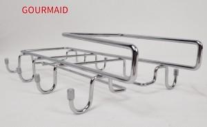 Chrome Under Cabinet Holder And Mug Rack