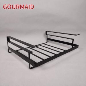 Large Glossy Black Under Shelf Wire Basket