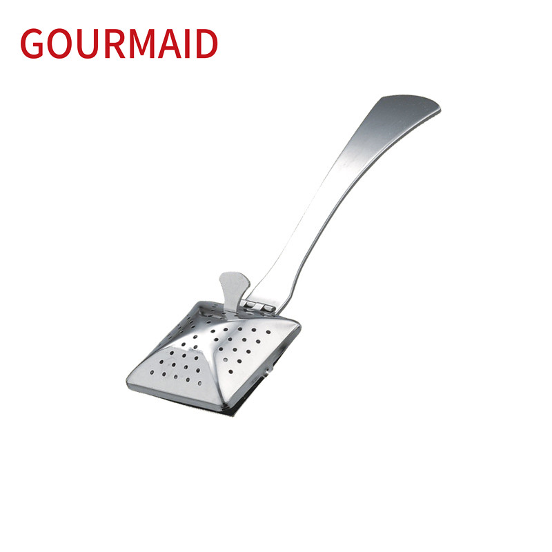 49 stainless steel square tea infuser with handle