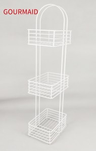 White Free Standing Toilet Roll Caddy