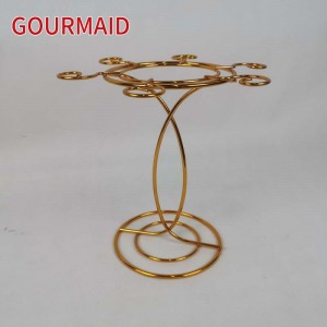 Tabletop Gold 6 Wine Glass Drying Rack