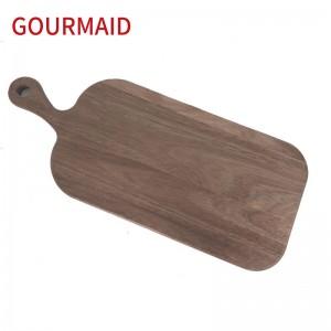acacia wood cutting board with handle