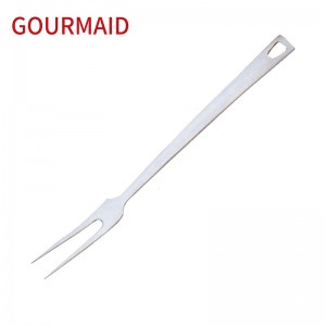 stainless steel kitchen serving meat fork