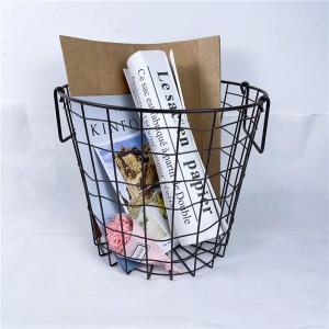 Shabby Chic Round Wire Basket