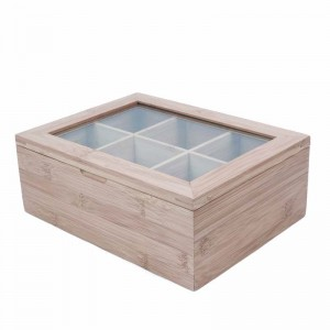 Bamboo Tea Box Storage Organizer