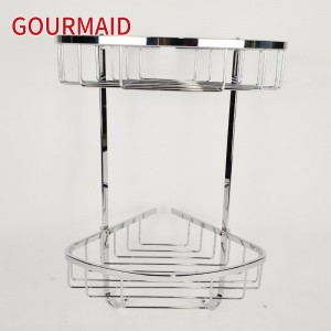 Double Tier Polished Stainless Shower Caddy