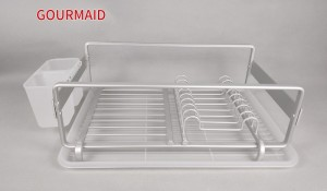 Aluminum dish Drainer With Drip Tray