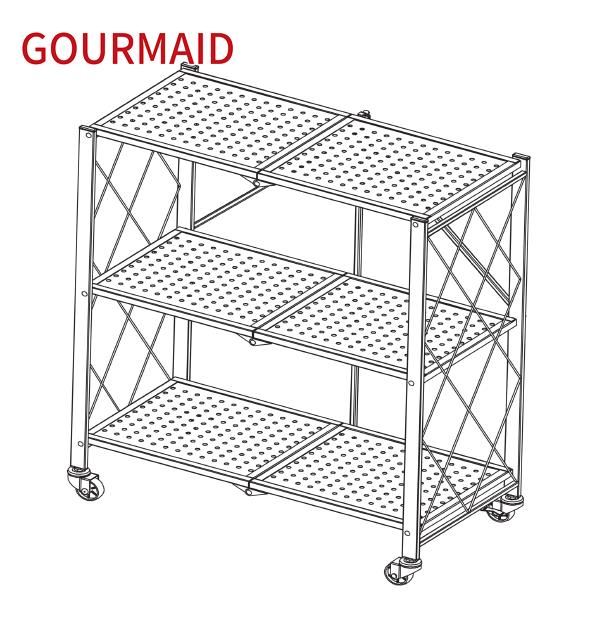 3层折叠置物架