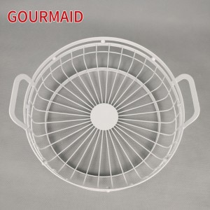 Round Metal Wire Fruit Basket With Handles
