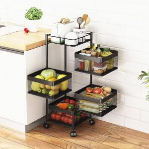 Kitchen Rotating Basket Storage Rack