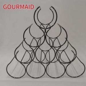 pyramid steel wine rack