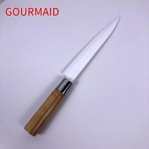8 inch kitchen white ceramic chef knife